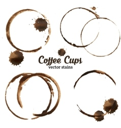 Isolated of coffee cup stains vector image