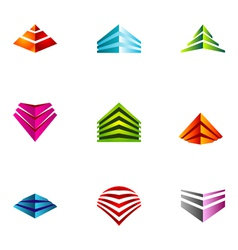 logo design elements set 64 vector image vector image