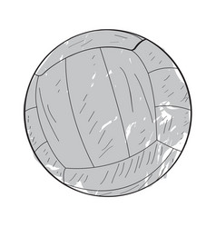 Retro volleyball ball vector