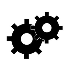 Silhouette gears symbol process industry vector