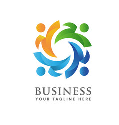 Social community logo vector