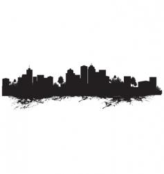 Splash cityscape vector