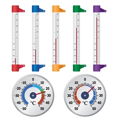street thermometers vector image vector image
