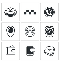 Taxi Service icons set vector image vector image