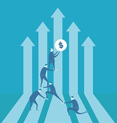 Team building financial graph vector image