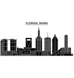 usa florida miami architecture city vector image
