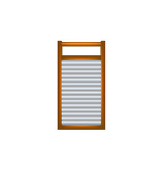 Wooden washboard in brown and silver design vector