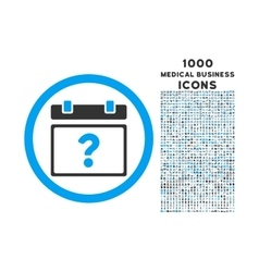 Unknown date rounded icon with 1000 bonus icons vector