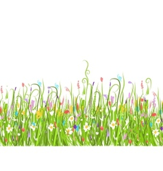 Green meadow seamless pattern for your design vector image