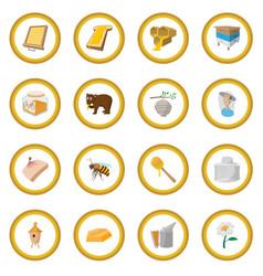 apiary cartoon icon circle vector image