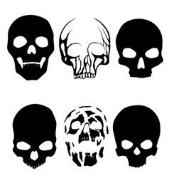skull silhouettes vector image