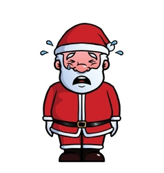 Santa claus crying vector