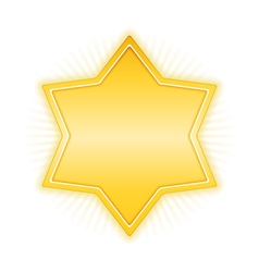 Yellow star vector