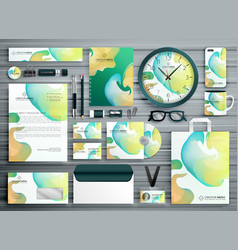 abstract business stationery template design for vector image