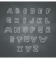 Alphabet on chalkboard vector