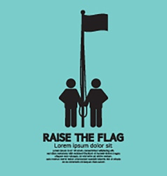 Raise the flag symbol vector