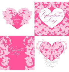 Set of valentines day greeting cards vector