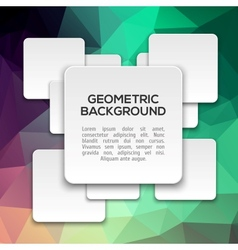 3D Abstract geometric background vector image vector image