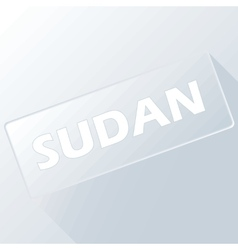 Sudan unique button vector
