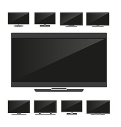 Set of silhouettes tv vector