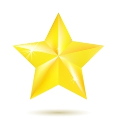 Gold star isolated on white background vector