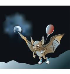 Cartoon vampire bat vector
