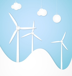 Windmills alternative energy vector