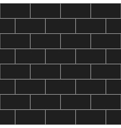 Dark gray brick wall vector
