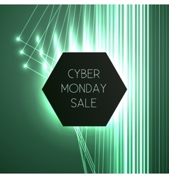 Banner for cyber monday vector
