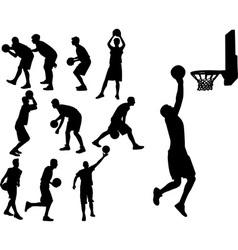 Basketball players vs vector image vector image