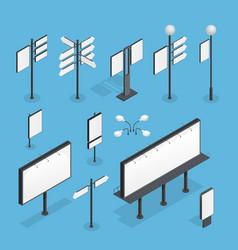 billboard isometric set vector image