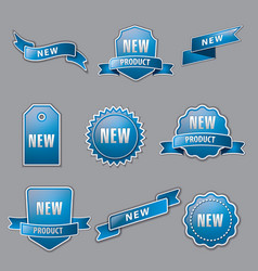 blue advertising banners vector image