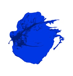 Blue ink brush paint stroke with rough edges vector