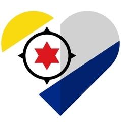 Bonaire flat heart flag vector