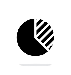 Business pie chart icon on white background vector image