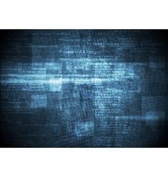 Dark blue grunge technical background vector image