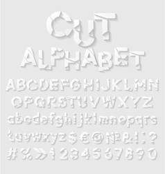 Decorative cut paper alphabet vector image
