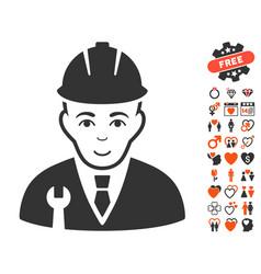 Developer icon with love bonus vector