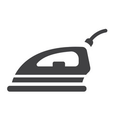 electric iron solid icon household and appliance vector image