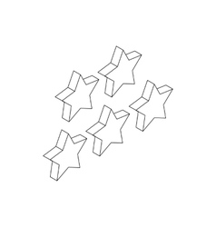 Five stars icon isometric 3d style vector image