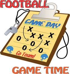 Football game time vector