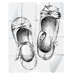 girl shoes vector image