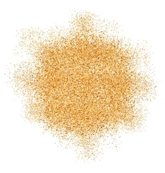 Golden glitter texture splash on white background vector image vector image