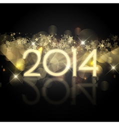 Happy New Year background with a starry design vector image vector image