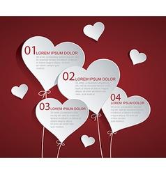 Heart infographic vector