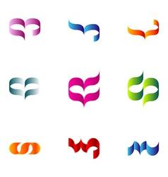 Logo design elements set 65 vector