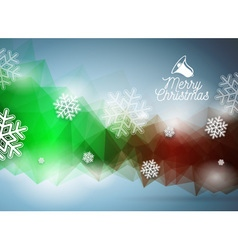 Merry Christmas with snowflakes vector image
