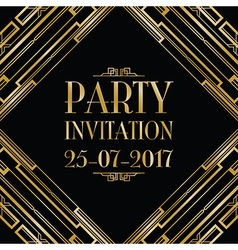 party invitation art deco vector image vector image