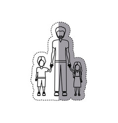 people man with her children icon vector image vector image