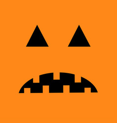 Pumpkin sad face emotion big triangle eyes hurt vector